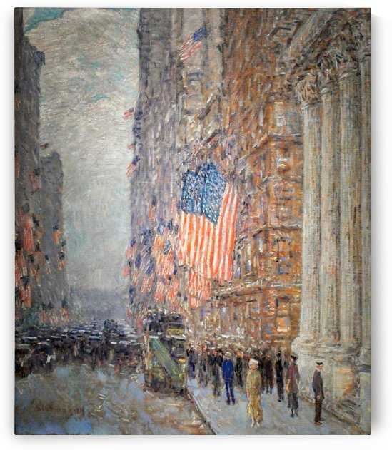 Flag Day, Fifth Avenue, July 4th by Frederick Childe Hassam