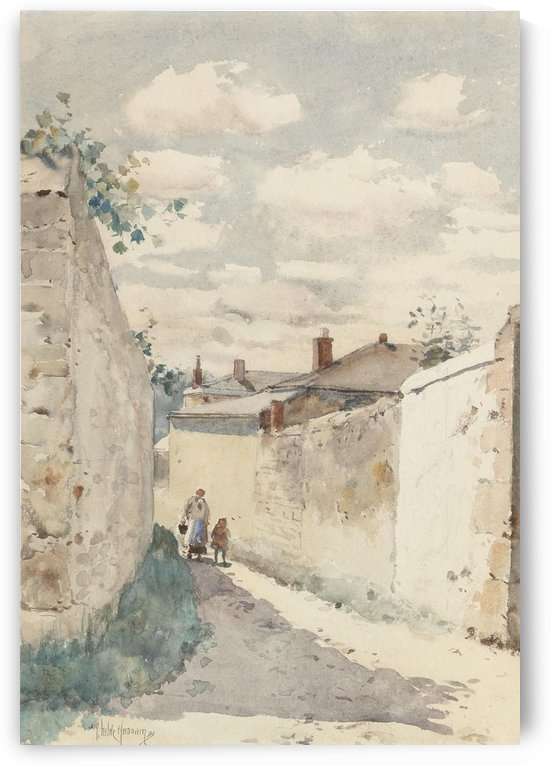 The Street in Auvers-sur-Oise by Frederick Childe Hassam