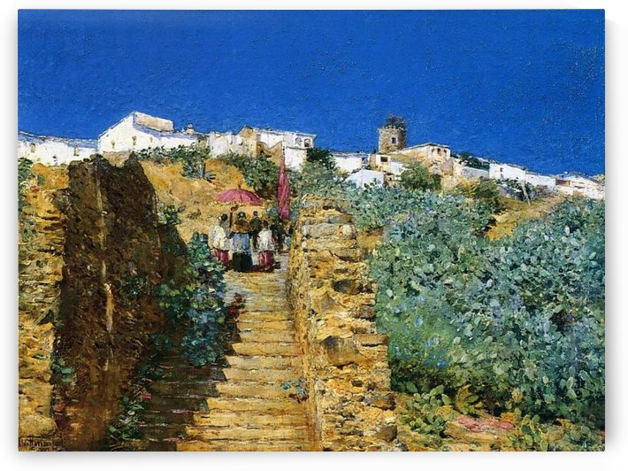 The Stairs by Frederick Childe Hassam