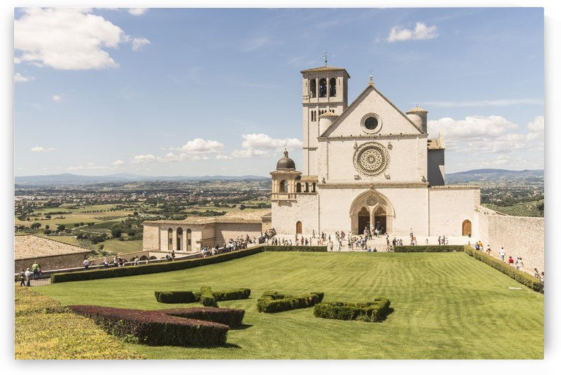 Assisi church by delsanteluca