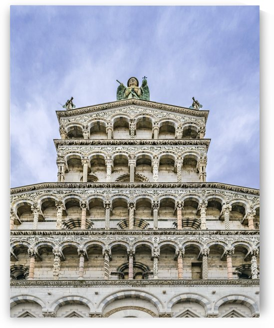 San Martino Cathedral Facade, Lucca, Italy by Daniel Ferreia Leites Ciccarino