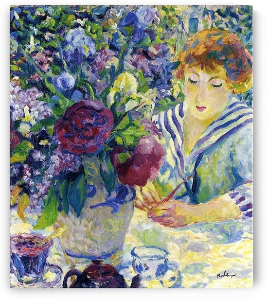 Vase of Flowers by Georges dEspagnat