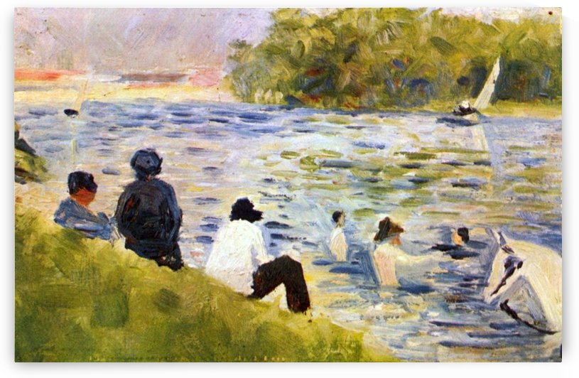 A River Bank The Seine at Asnieres by Georges Seurat
