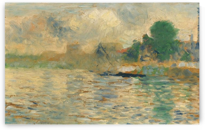 Barge on the Seine by Georges Seurat