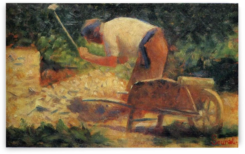 Carrying Stones by Georges Seurat