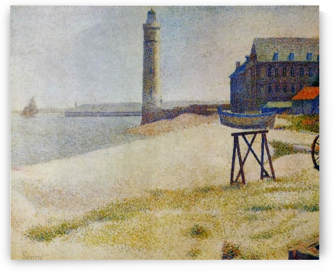 The Hospice and a Lighthouse of Honfleur by Georges Seurat