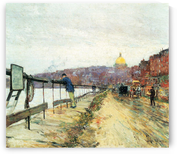 Charles River und Beacon Hill by Hassam by Hassam