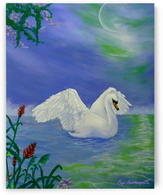 Swan Night by Fotini Anastasopoulou