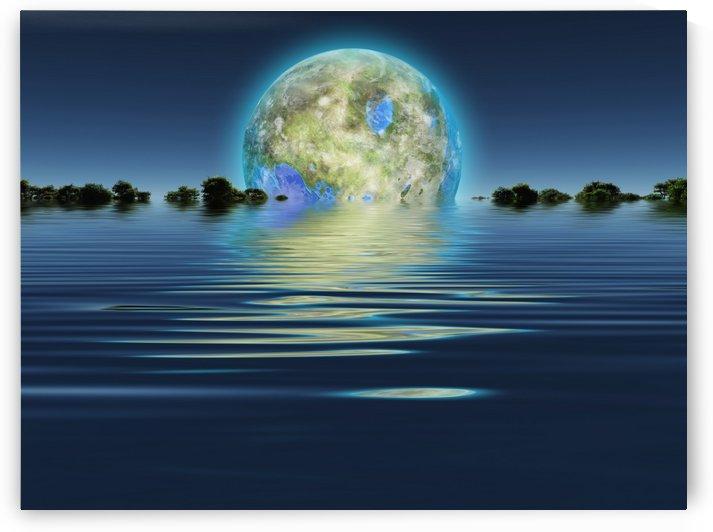 Terraformed colonized moon by Bruce Rolff