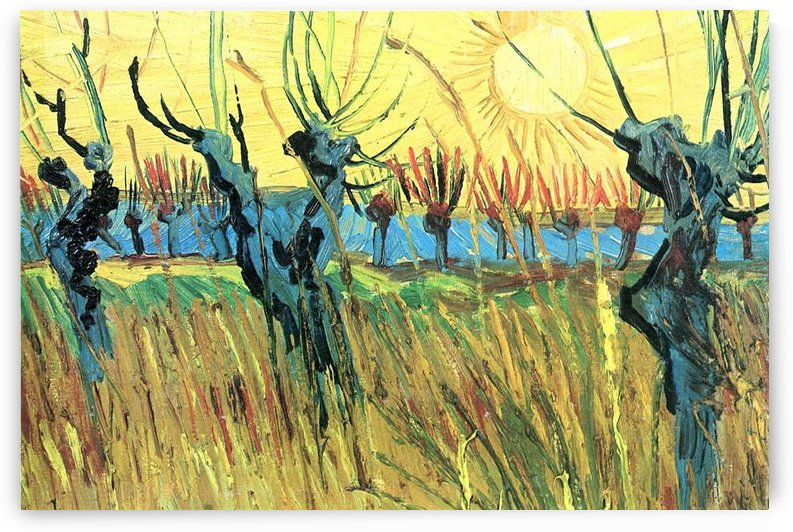Grazing at sunset by Van Gogh by Van Gogh