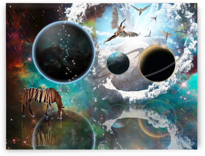 Religious planetary surrealism by Bruce Rolff