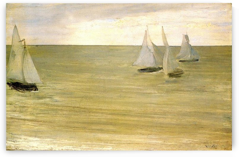 Grey and green the silver sea by Whistler by Whistler