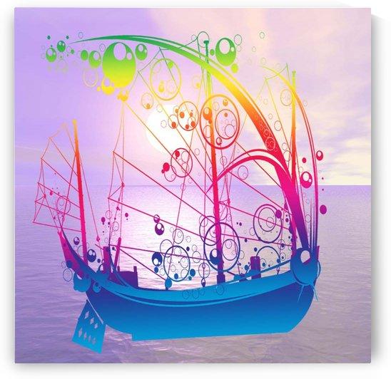 Sailing Ship at Dawn by Matthew Lacey