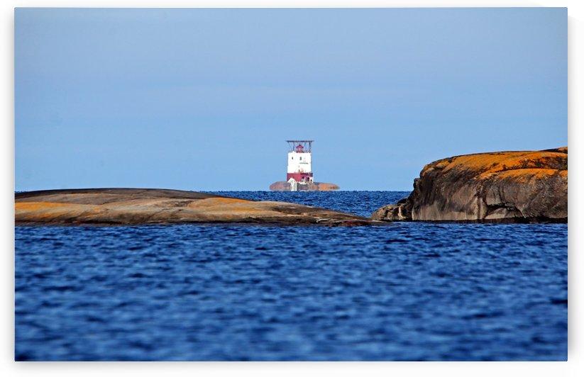 Red Rock Lighthouse Georgian Bay by Deb Oppermann