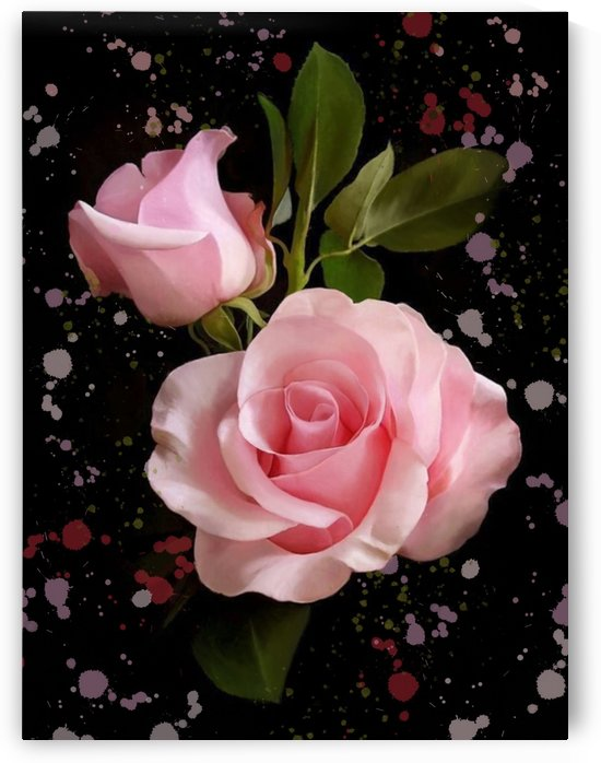 Pink Roses by Arlette Tebele Art