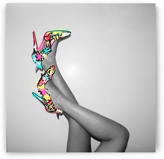 Graffiti Heels by Arlette Tebele Art