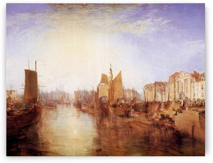 Harbor of Dieppe by Joseph Mallord Turner by Joseph Mallord Turner