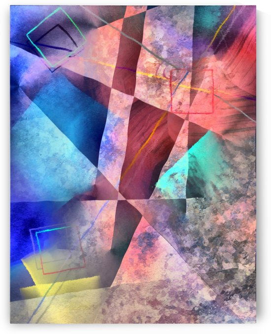 Angular Colorful Abstract Painting by Bruce Rolff