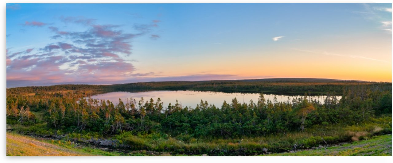 French Lake Sunset by Michel Soucy