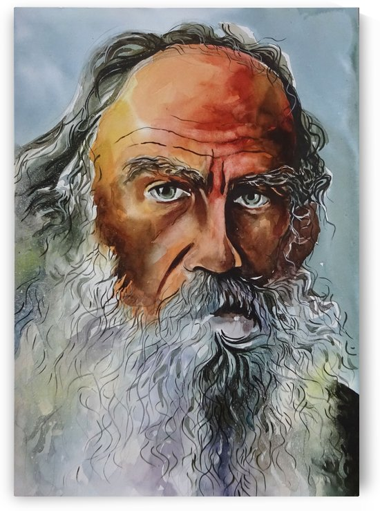 Leo Tolstoy -  Potrait painting by Sumit Datta by Sumit Datta
