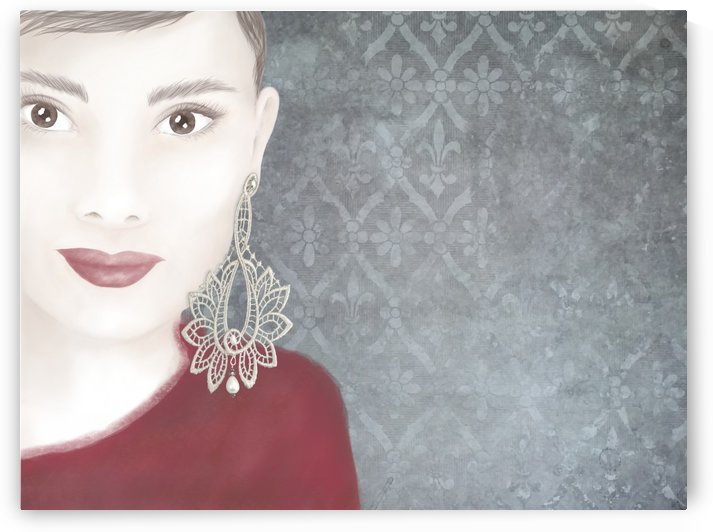 Lace earrings  by Kirsi Korhonen