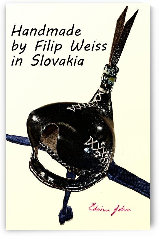 Black Leather Falcon hood Handmade in Slovakia by Filip by Edwin John