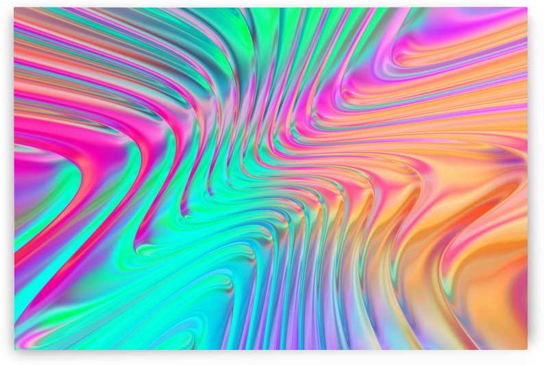 Abstract Colorful Waves by Art Design Works