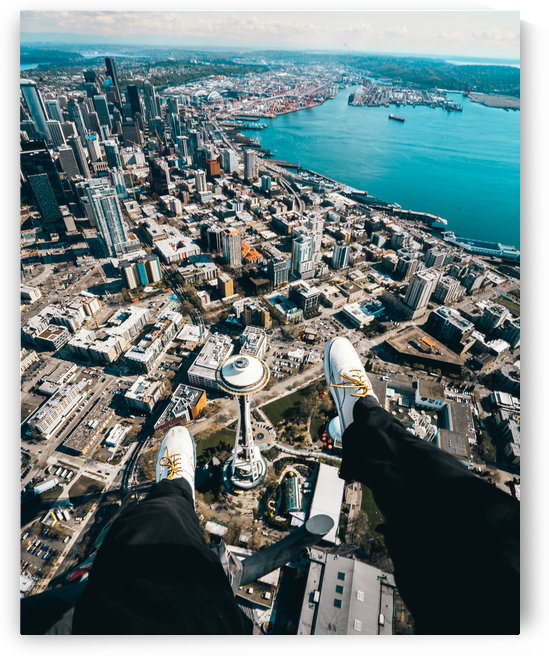 Soaring Above Seattle by Luke Barrett Visuals