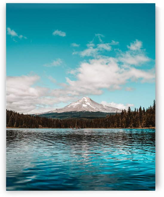 Mt Hood from Trillium Lake by Luke Barrett Visuals