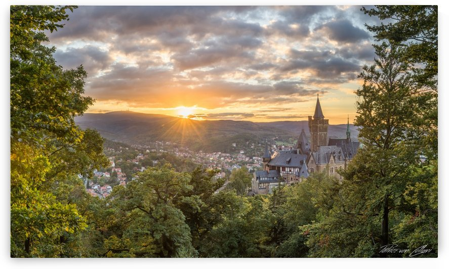 Castle Wernigerode Panorama by Patrice von Collani