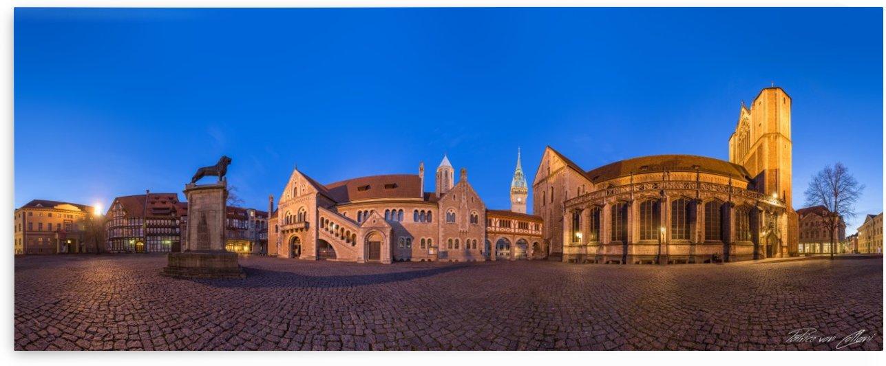 Burgplatz Brunswick Panorama by Patrice von Collani