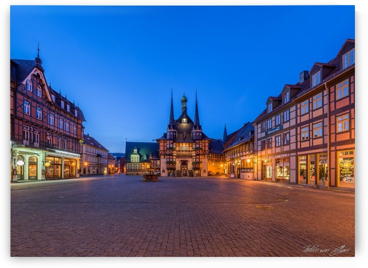 Wernigerode Market Square & Town Hall by Patrice von Collani