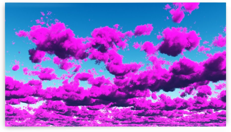 Vivid Purple Cloudscape by Bruce Rolff