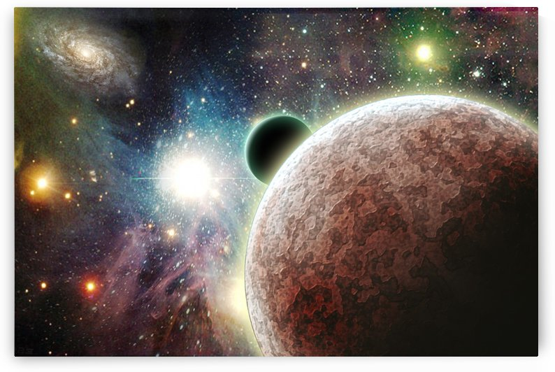 Planets in space by Bruce Rolff