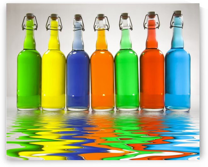 Color Filled Bottles by Bruce Rolff