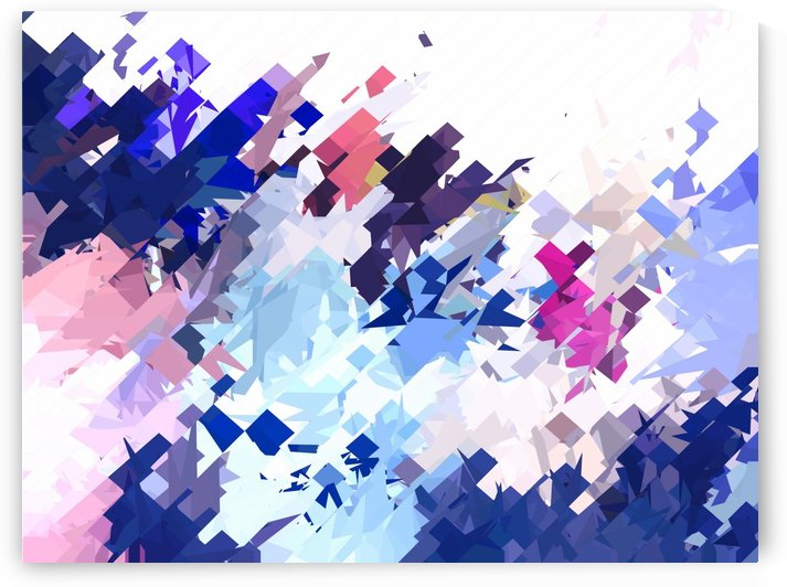 splash geometric pattern abstract background in blue pink purple by TimmyLA