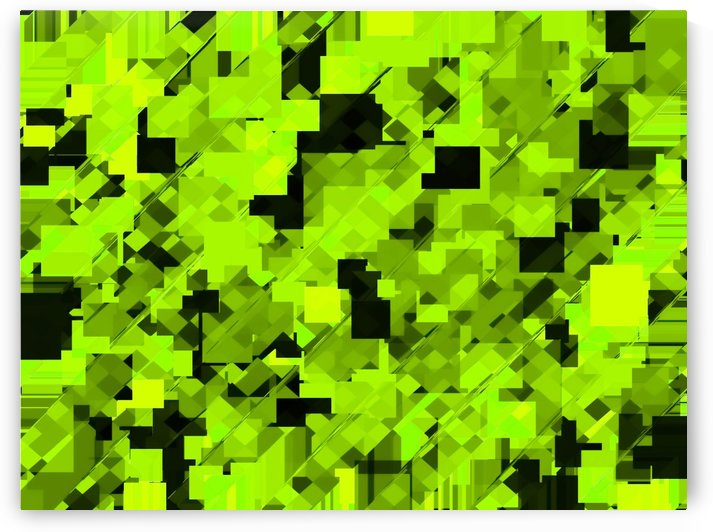geometric square pixel pattern abstract background in green and black by TimmyLA