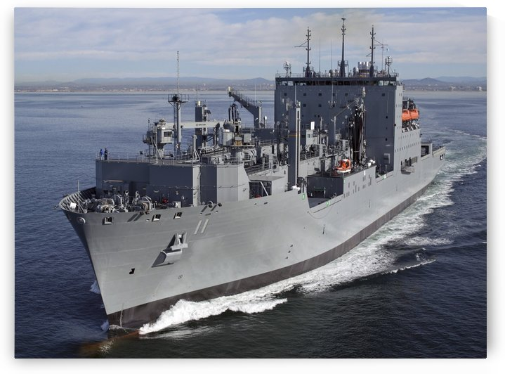 Military Sealift Command dry cargo and ammunition ship USNS Washington Chambers. by StocktrekImages