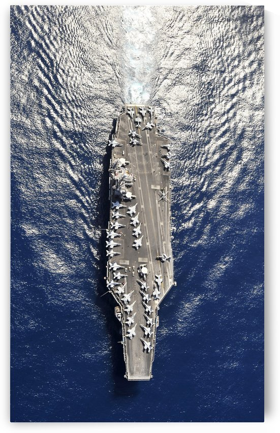 Aerial view of the aircraft carrier USS Harry S. Truman. by StocktrekImages