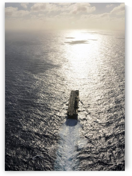 Amphibious assault ship USS Boxer underway in the Pacific Ocean. by StocktrekImages