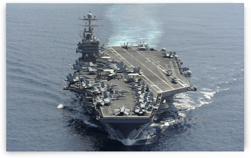 USS Abraham Lincoln transits the Indian Ocean. by StocktrekImages