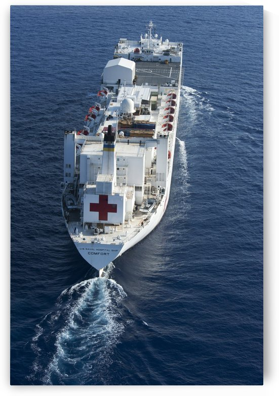 The Military Sealift Command hospital ship USNS Comfort. by StocktrekImages