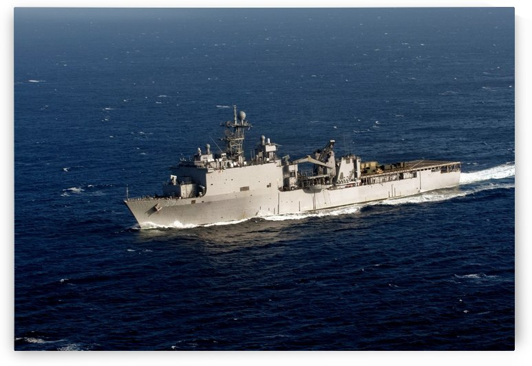The Whidbey Island-class dock landing ship USS Rushmore. by StocktrekImages