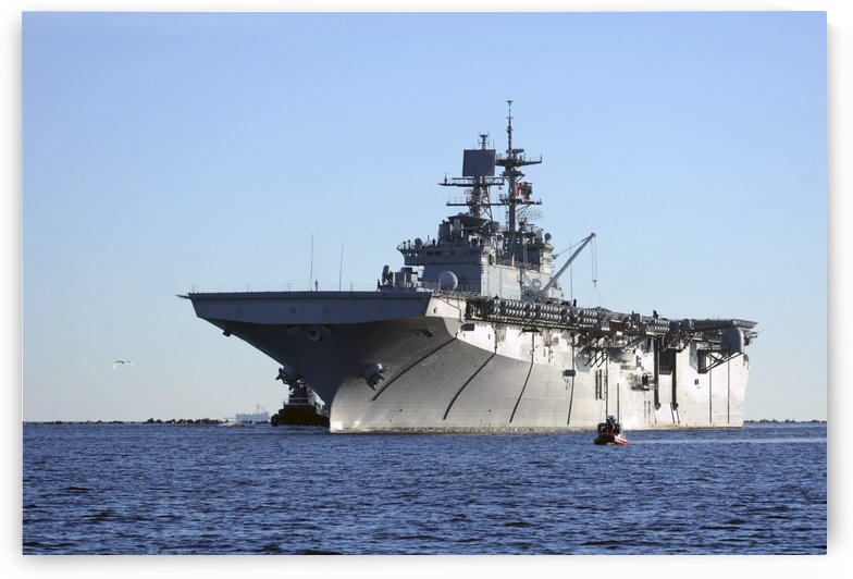 USS Bataan arrives at Naval Station Mayport Florida. by StocktrekImages
