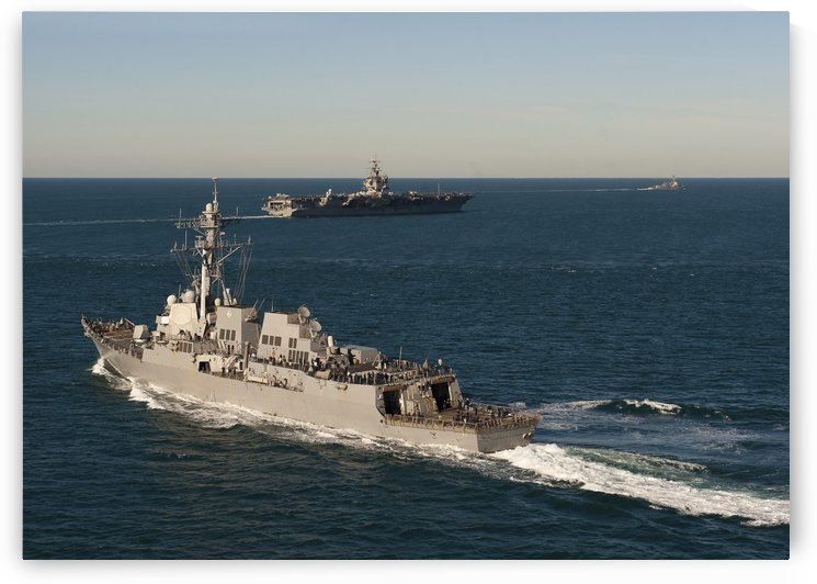 USS James E. Williams is underway with USS Enterprise and USS Nitze. by StocktrekImages