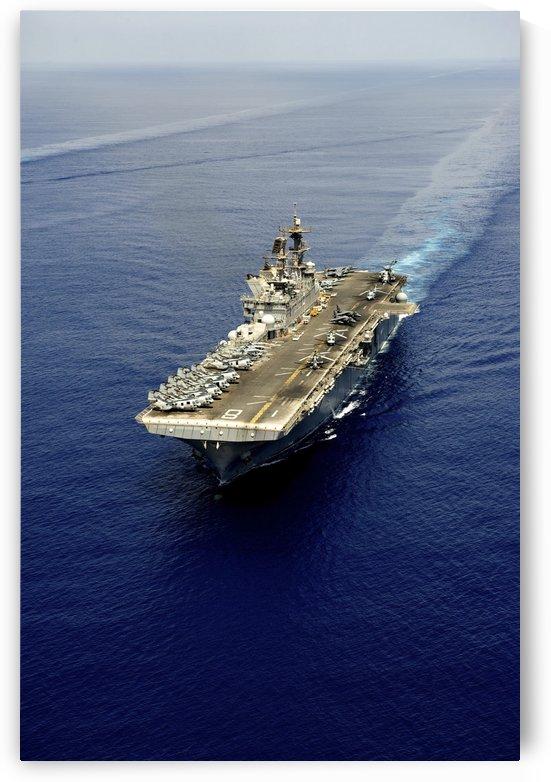 Amphibious assault ship USS Makin Island. by StocktrekImages