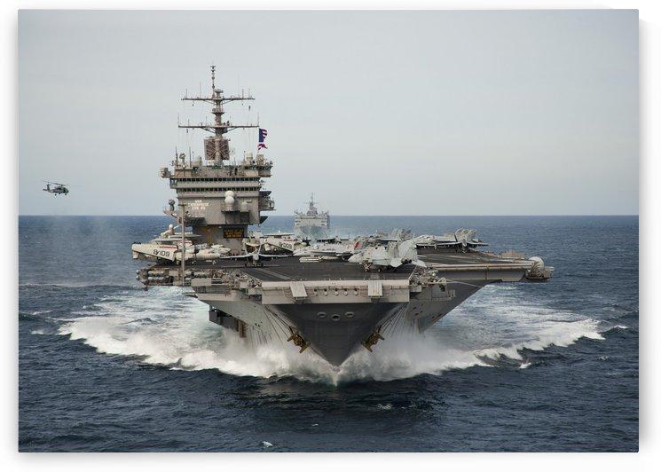 USS Enterprise transits the Atlantic Ocean. by StocktrekImages