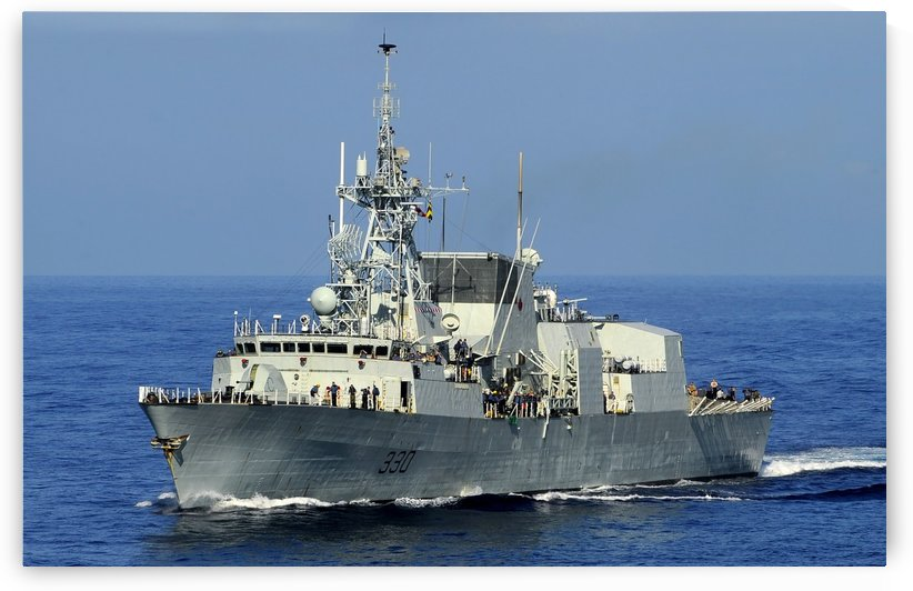 The Canadian patrol frigate HMCS Halifax. by StocktrekImages