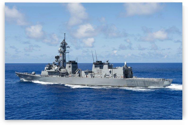 Japan Maritime Self-Defense Force destroyer JS Murasame. by StocktrekImages
