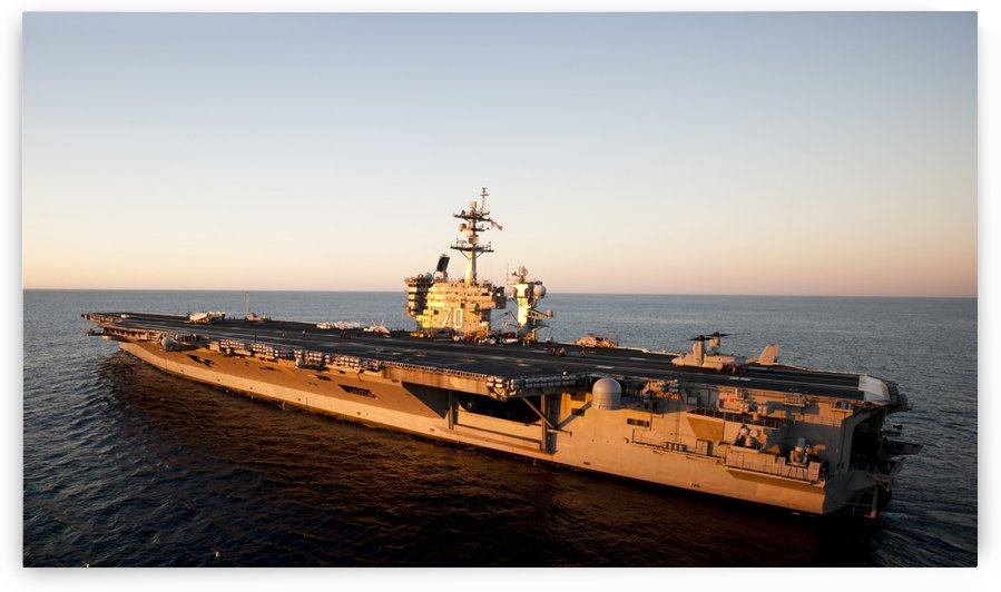 The aircraft carrier USS Carl Vinson is underway in the Pacific Ocean. by StocktrekImages